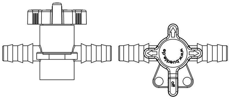 Two and three-way valves - Transfer of liquids or gases, PVDF or PP/PE, industrial & laboratory equipment