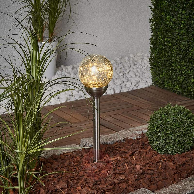 Glory - solar ground spike light with glass sphere - Decorative Solar Lights