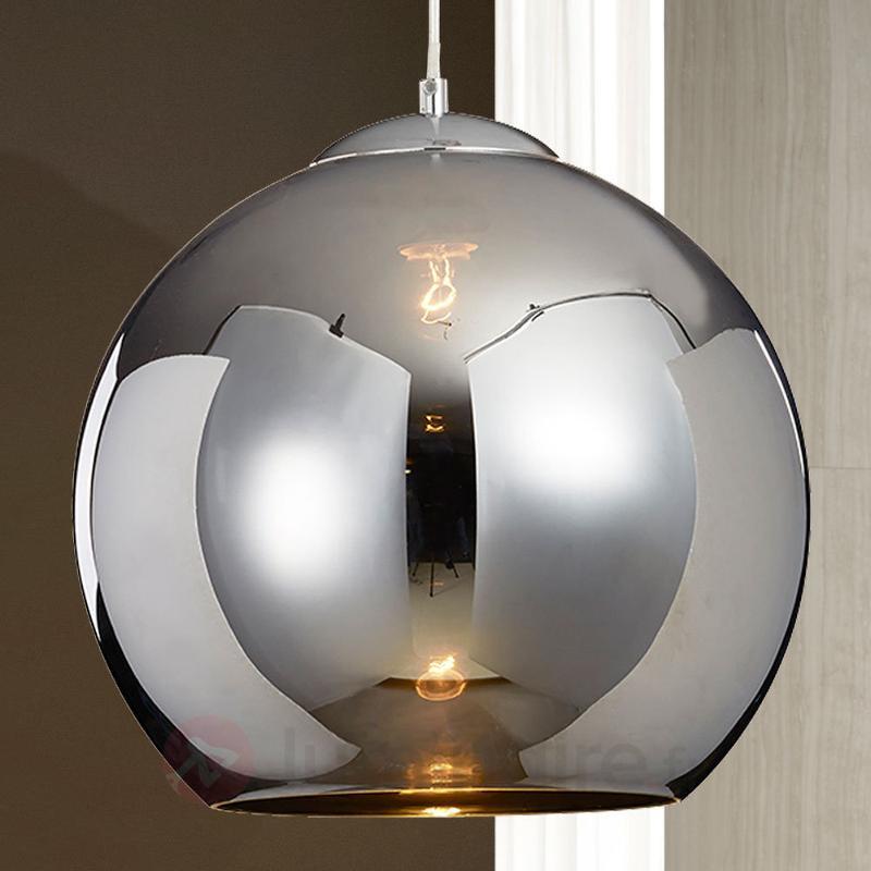 Suspension Esfera, abat-jour verre couleur chrome - Suspensions en verre