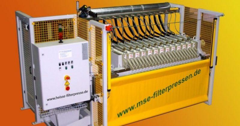 Hot filter press - The hot filter press - Thermal drying of the filter residue for high dry matter