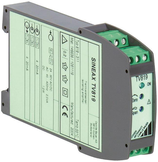 SINEAX TV819 - Isolation amplifier