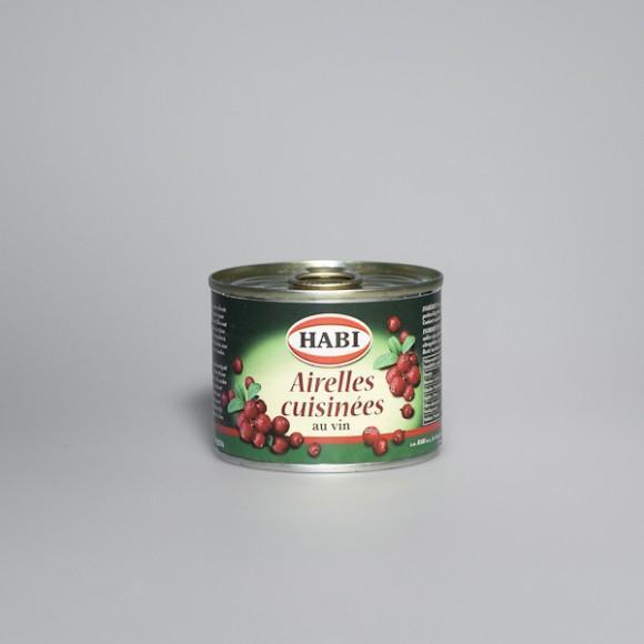Airelles - Airelles cuisinées au vin