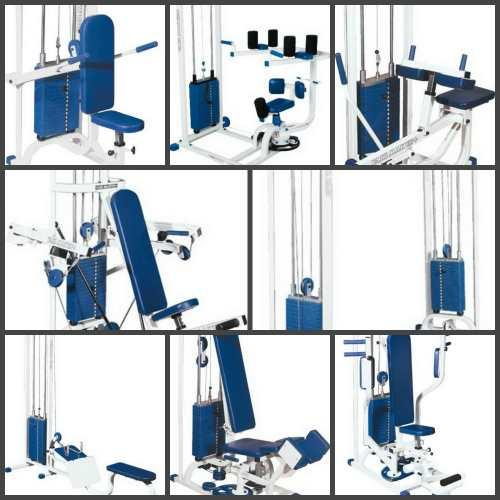Line VASIL MASTER+ - Complex consists of 26 professional weight-stack machines, benches and rack of f