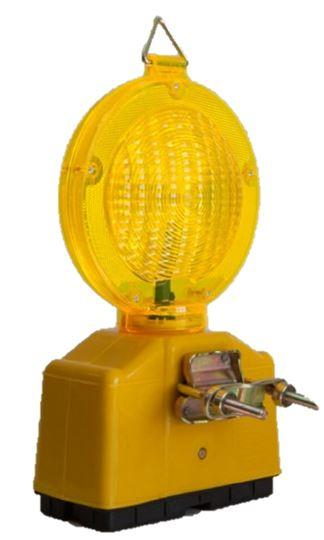 LED warning lamp double sided yellow lens Ø 18cm with sh ... - SILA180LG