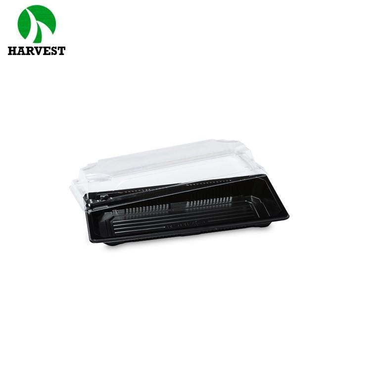 Oem Accepted Ps Plastic Printing Sushi Tray Transparent Lid Sushi Container - Sushi Trays