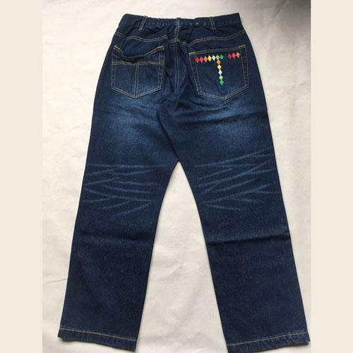 Pantalones vaqueros - Pantalones de dril de algodón azul oscuro
