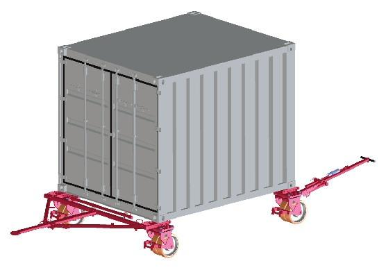 Jeu de roues conteneur 24 t - Juego de rodillos para contenedores 24 t