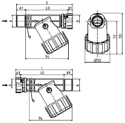 Strainer, DN 17 - 12.017.400 / ~.500
