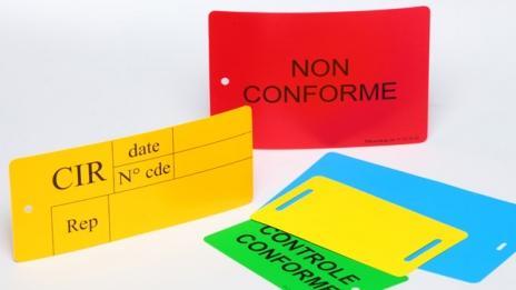 Étiquette PVC PLASTIQUE - Format standard  -