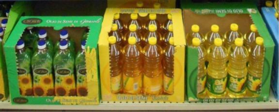 raffiniertes Sonnenblumenöl - 100%. Ukrainisches raffiniertes Sonnenblumenöl