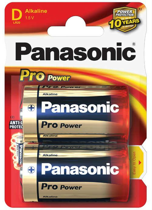 Batterie torcia Pro Power 2 pz - LR20PPG/2BP | Blister da 2 pile D Panasonic