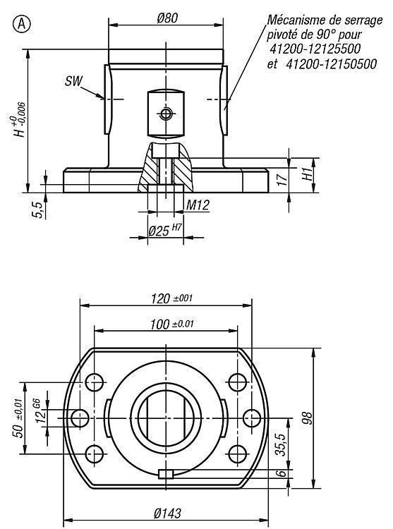 Module de base 5 axes UNI lock Pas de 80 mm - UNI lock Pas de 80 mm