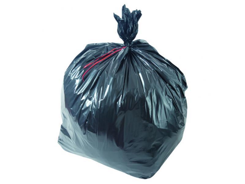 Sac poubelle noir basse densité 110L 40µ rouleau de 25... - Equipement des locaux