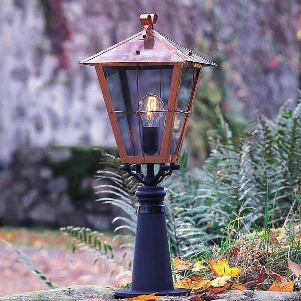 Luminaire pour socle FENIX en cuivre - Bornes lumineuses cuivre