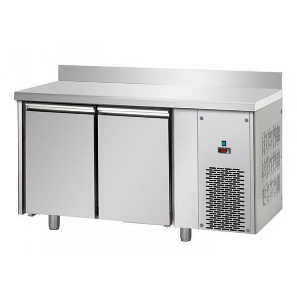 Tables réfrigérées négativs 2 portes inox avec dosseret - Référence TF2SYBTAL