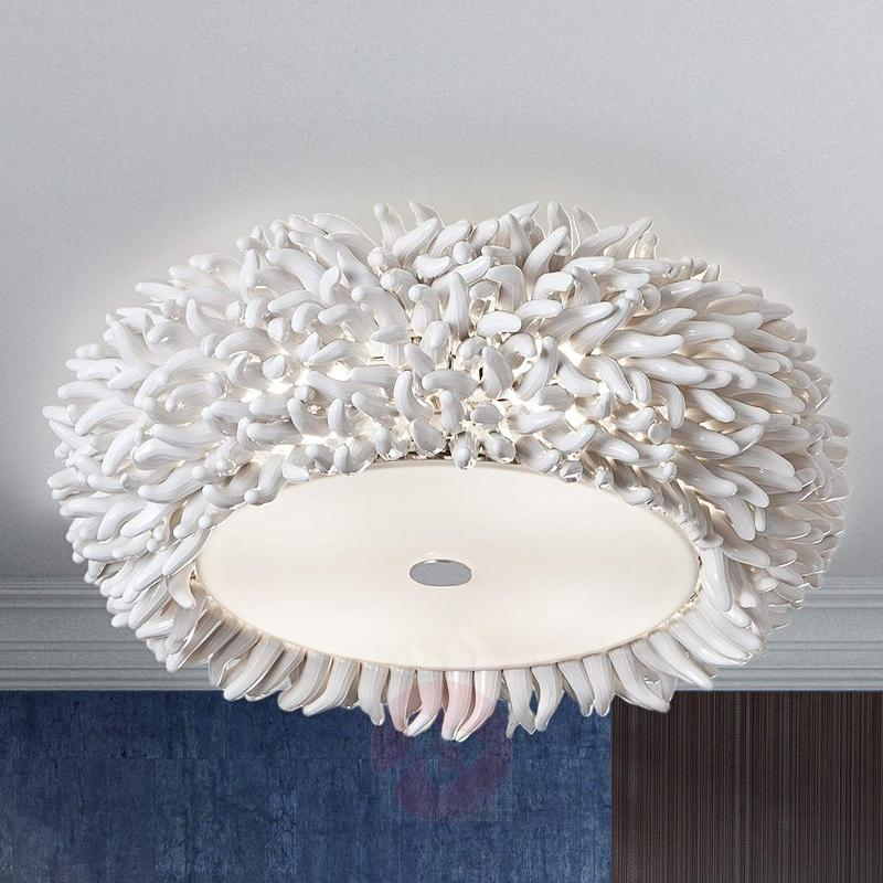 Ceiling light Xenia with fringe trim