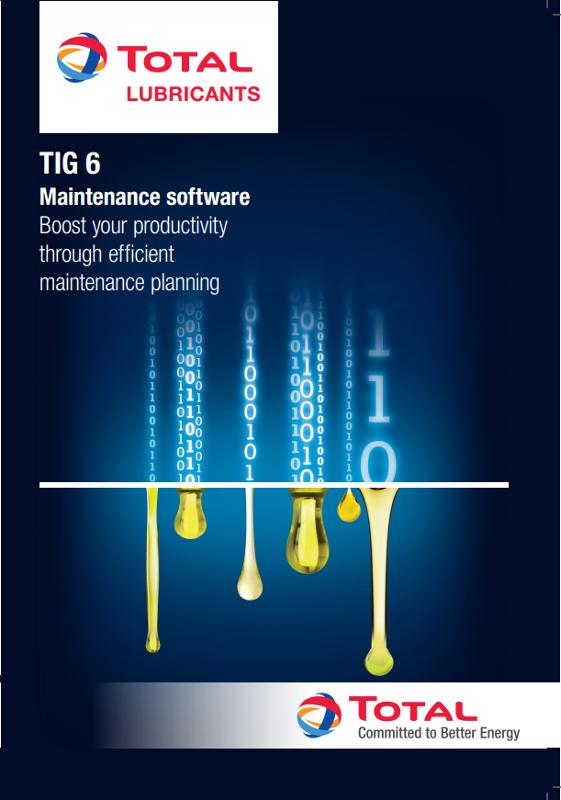 TIG 6, MAINTENANCE AND LUBRIFICATION SOFTWARE - SERVICES