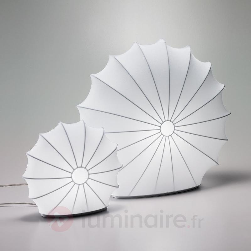 Lampe à poser en textile Muse blanche 33 cm - Lampes à poser en tissu