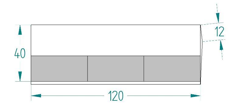 Mise À Souder 3 Plaquettes 120*40*12 Type M.A.S Epaisseur 12 - Mises à souder