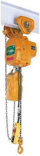 Palans électriques à chaîne - usage courant - Palan KITO EFLG (avec chariot à translation mécanique)