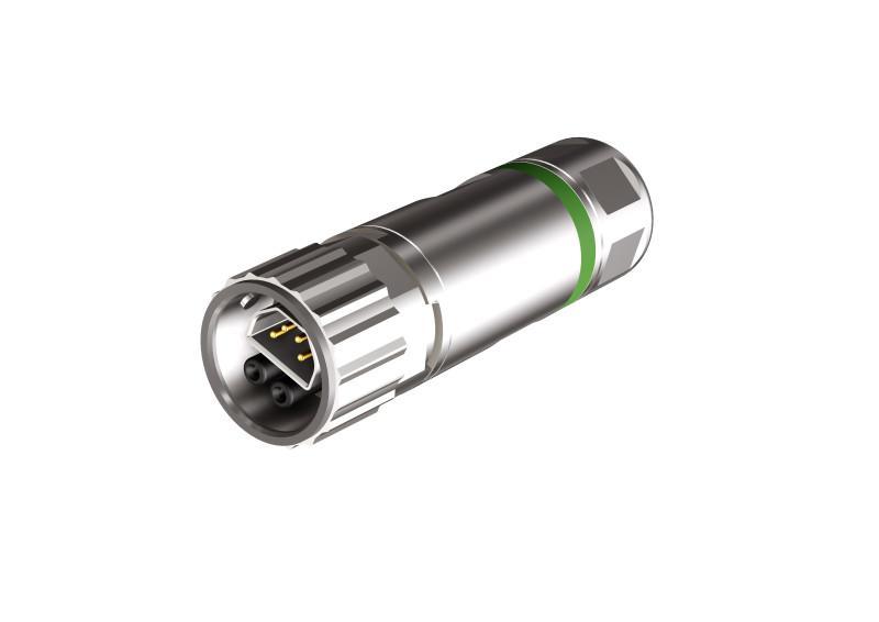 B12 Hybrid Steckverbinder konfektionierbar - CONEC SuperCon® Hybridsteckverbinder umspritzt Baugröße B12