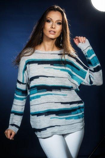 Sweter damski w paski -