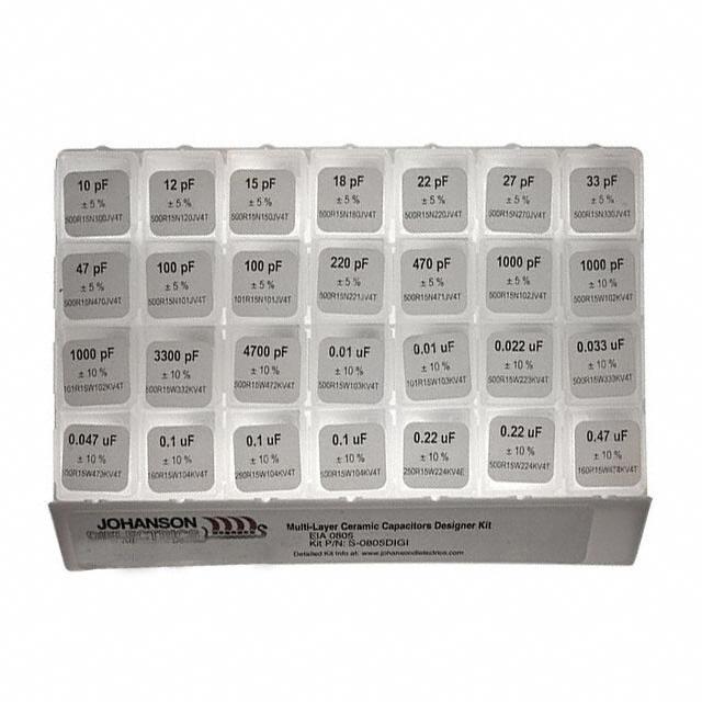 CAP KIT CER 10PF-0.47UF 1400PCS - Johanson Dielectrics Inc. S-0805DIGI