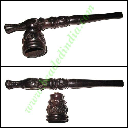 Handmade real ebony wood smoking pipe, size : 6 inch pipe - Handmade real ebony wood smoking pipe, size : 6 inch pipe