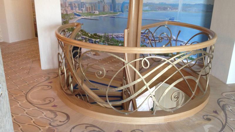 Wood stairs - Baku
