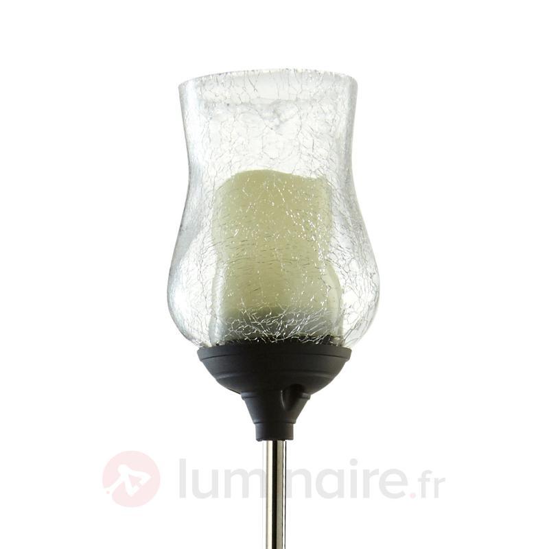 Lampe solaire LED Lyon avec calice transparent - Lampes décoratives d'extérieur