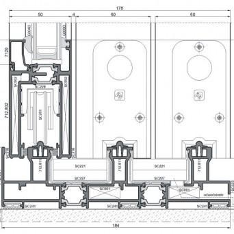 Sliding 1200tt - Aluminiumfenster