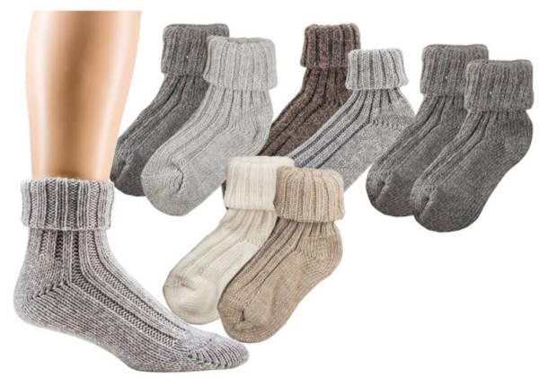 2194 - Cuff-Socks with Alpaca Wool - Prewashed, 3-gage. Soft and thick quality, cuddly and warming.