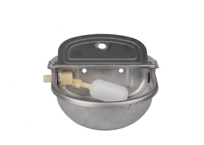 2.6L Stainless Steel Cattle/horse Water Drinking Bowl  - Horse and Cattle Feeding Trough Drinking Bowl
