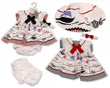 Baby Dress - Nautical -