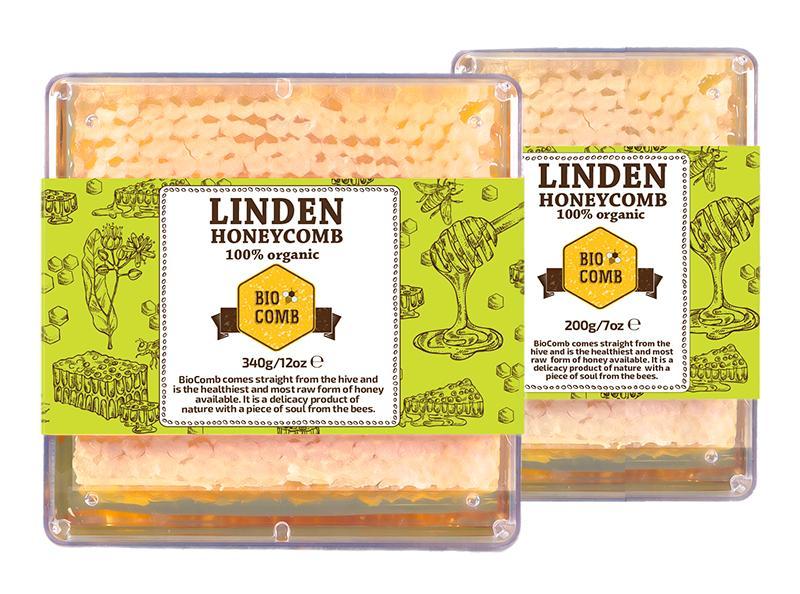 Organic Bulgarian Honeycomb - BioComb Linden
