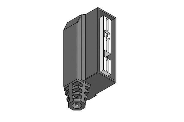 Connettore angolato per attuatori – valvole 3 vie Bitron-El -