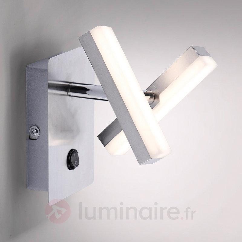 Applique LED anguleuse Rico, à deux lampes - Appliques LED