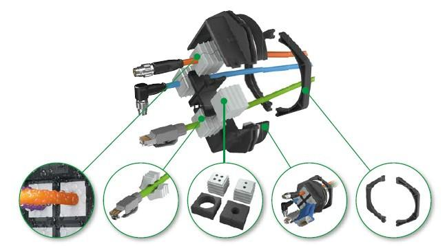 KDSClick racores para cable divisibles - KDSClick, racores para cable divisibles de CONTA-CLIP