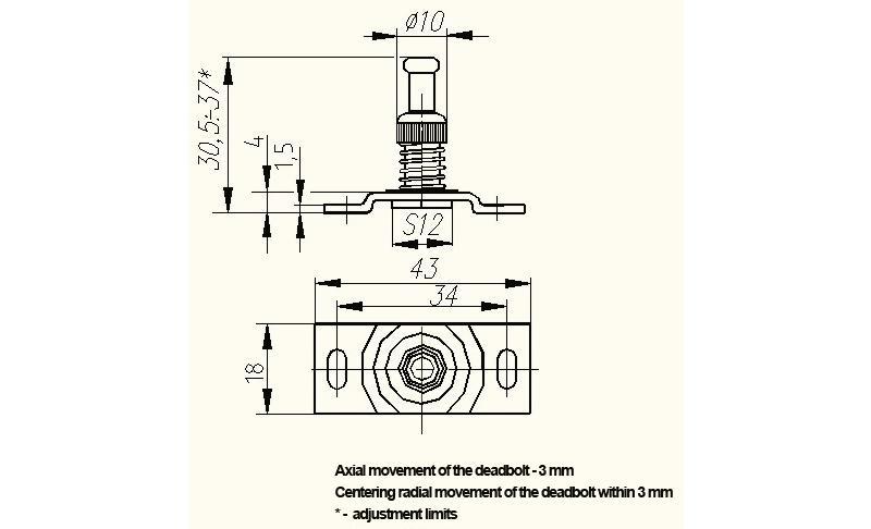 Promix-ad.db.08 Deadbolt - Accessories for locks