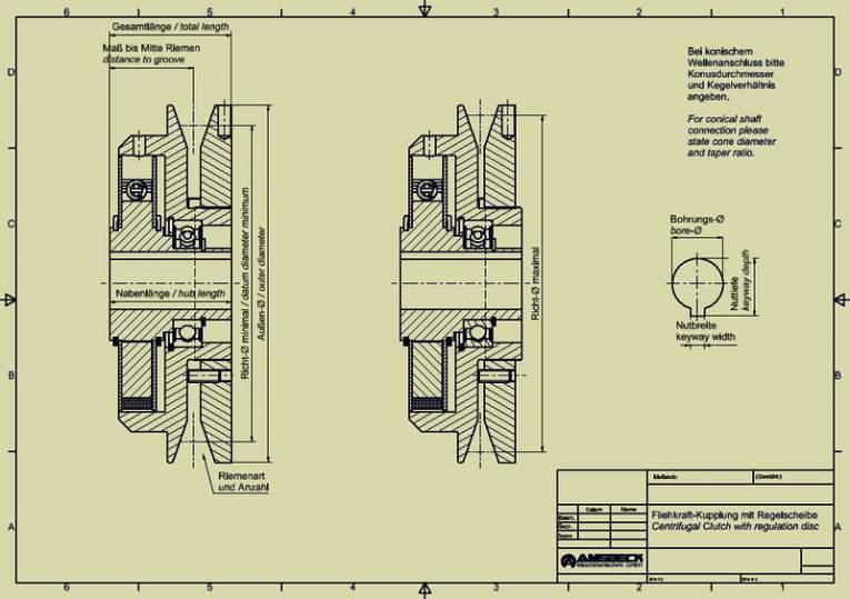 Fliehkraft-Kupplungen mit Regelscheibe - Fliehkraft-Kupplungen mit Regelscheibe