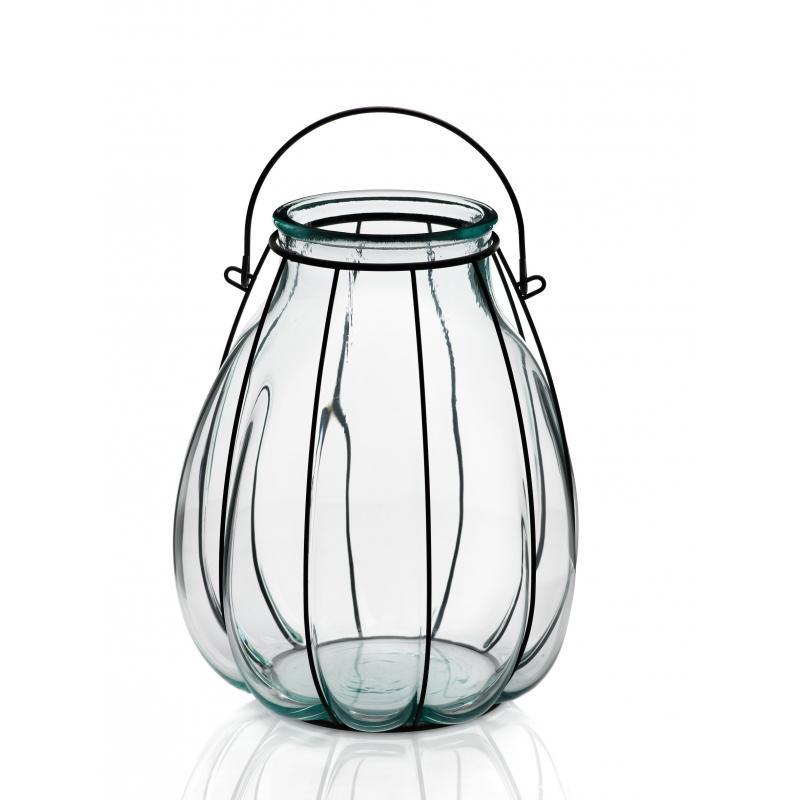 Lanterne FLORERO LINTERNA, en verre et en fer, 32 CM - Vases, Lanternes, décoration
