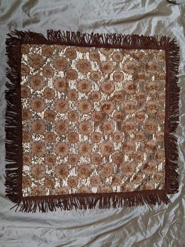 European classic style brown craft tablecloth - K17767