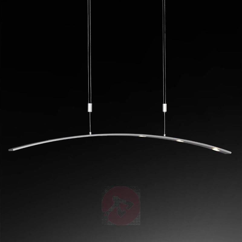 Adjustable LED pendant lamp Tuva aluminium matte - Pendant Lighting