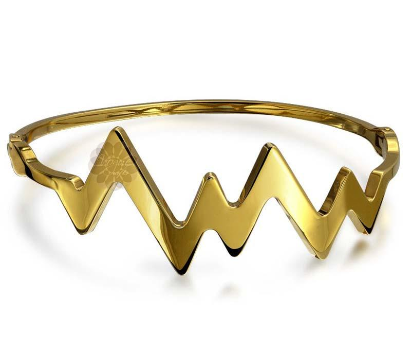 Contemporary Gold Bangle -