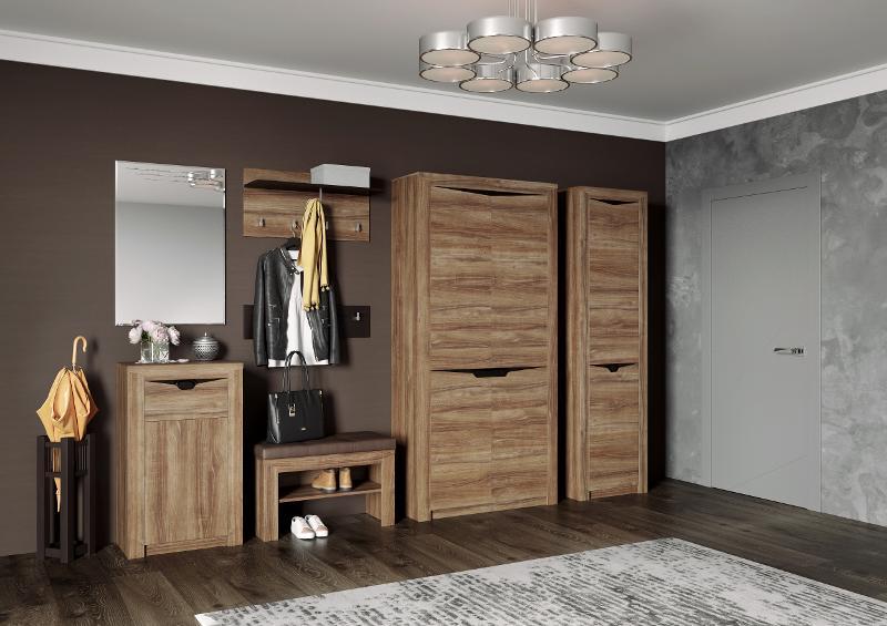 "Hallway ""Sorento"" Stirling Oak - Hallway furniture"