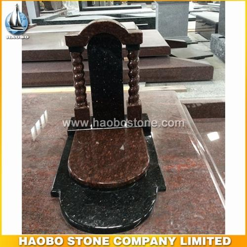 Russia Style Popular Black Galaxy Granite Headstone - Russia Monument