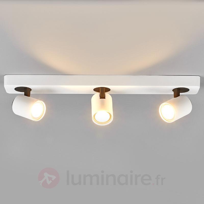 Spot LED Sean à trois lampes en blanc - Spots et projecteurs LED