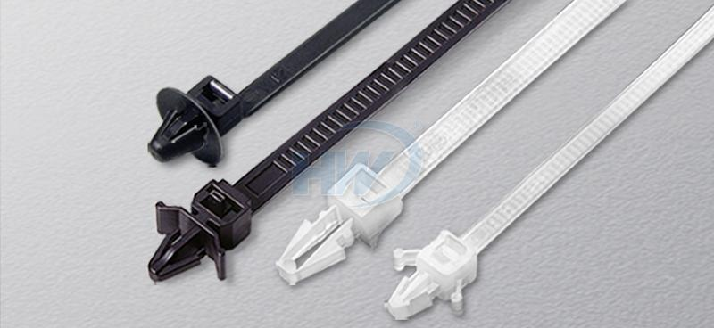 Cable Ties - Push Mount, Polyamide, 110mm, 4.8mm