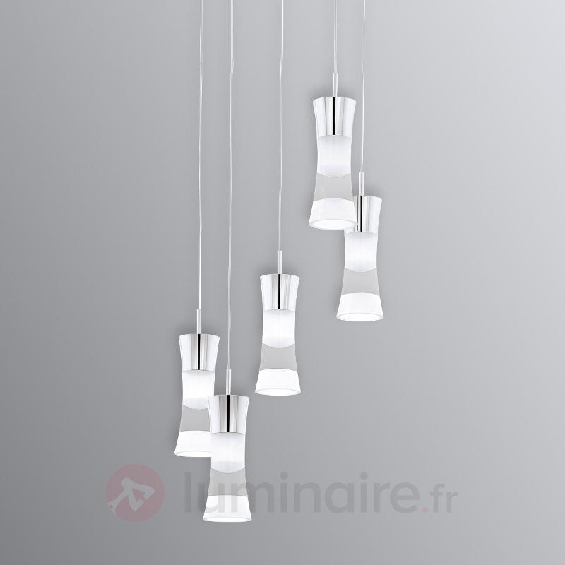 Suspension LED ronde à cinq flammes Pancento - Suspensions LED