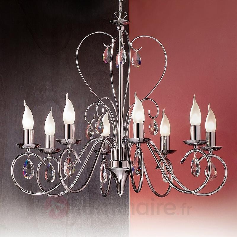 Lustre gracieux FIORETTO 8 ampoules, chromé - Tous les lustres